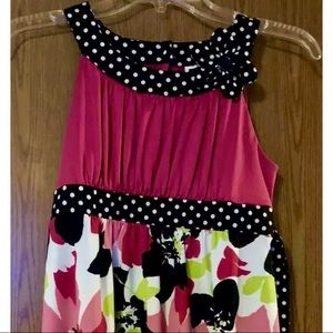 Cato girls large floral and polka dot top